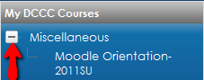 My DCCC Courses Block