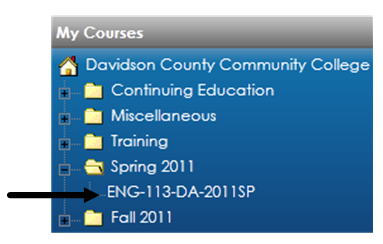 My Courses Block